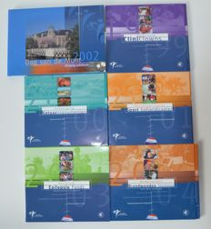 Netherlands - 2002 Annual Year 'Dag van de Munt' (Day of the Coin) + Year collections 1999/2004 'Goede Doelen' (Charities) (total of 6 sets)