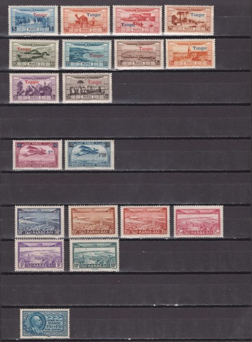 Morocco 1928/1963 - Air and terrestrial mail Set composed of complete series