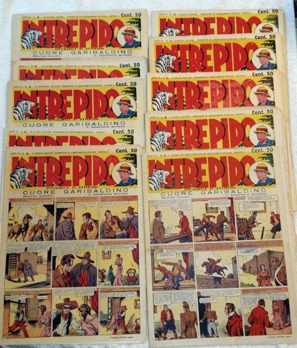 Intrepido - 11x booklets - lot with various issues (1940)