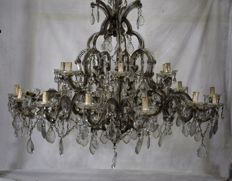 Maria Theresa style 21-light chandelier - Austria, early 20th century