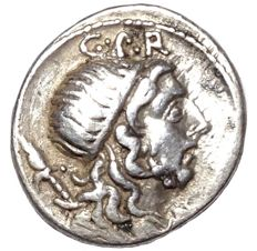 Roman Republic - Cn. Cornelius Lentulus - AR Denarius (Silver, 19mm, 3,92g.), uncertain mint in Spain c. 76-75 BC - Cr. 393/1 a; Syd. 752; BMCRR Spain 52