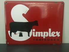 "Enamel sign ""SIMPLEX"""