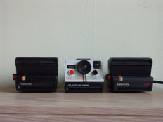 Polaroid cameras, Pronto 600 from 1982, Supercolor 600, Land camera 1000 from 1977