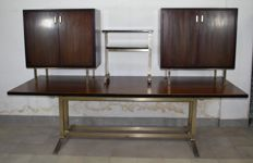 Gianni Moscatelli for Formanova - Table, two sideboards and a trolley