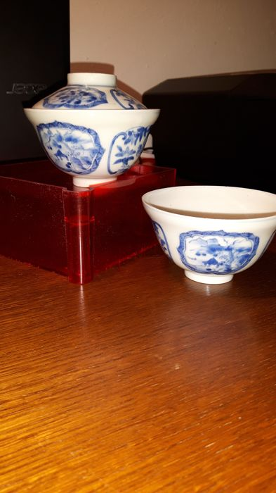 2 antique rice bowls - China - early 19th century