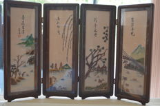 Delicate quadriptych – China – mid 20th century