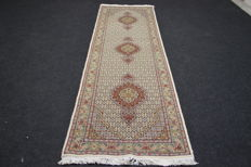 Magnificent Tabriz carpet, very fine, kork, 320 x 83 cm