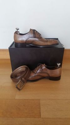 Ermenegildo Zegna - limited edition couture xxx shoes & belt