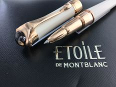 Etoile de Montblanc rollerball Sand with rose gold accents.