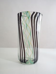 Silvano Signoretto - vase with polychromatic glass canes (1/1)