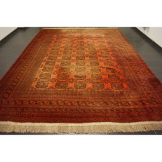 Wonderfully beautiful antique hand-knotted Art Deco Afghan oriental carpet, 400 x 300 cm, Afghan, made in Afghanistan
