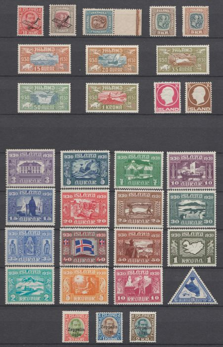 Iceland 1907/1931 - Selection with i.e. Airmail