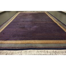 Magnificent handwoven Oriental palace carpet Sarouk Mir 350 x 250cm made in India best highland wool