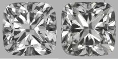 Pair of  Cushion Modified  Brilliants 2.02ct total  F VS1- F VS2  GIA - Original image 10EX 2256-2257