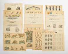 Catchpenny prints; Lot with 21 items - c. 1870