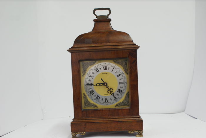Large wooden desk clock with dome - 20th century