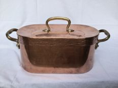 Nice big DAUBIÈRE cooking pot with tinned copper inside