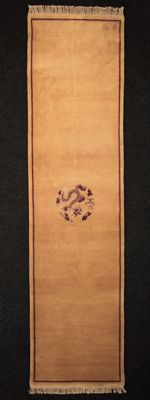 CHINESE carpet, colour carpet, silky wool, 20th century, 305 x 79 cm