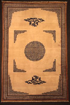 BEIJING carpet, CHINA, semi-antique, 300 x 200 cm, knotted by hand, silky and fine wool