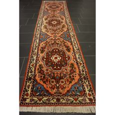 Unique Persian carpet Sarouk runner gallery best cork wool tree of life made in Iran 320 x 80cm mint condition