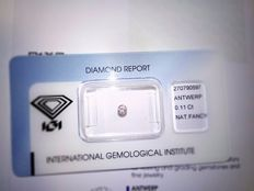 Natural Fancy Pink Diamond 0.11 ct with IGI cert *** low minimum price***