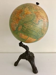 Rare three leg Globe Terrestre - Paris - J. Forest - 1900