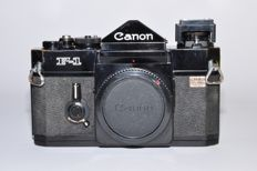 Canon F-1 with a 24mm 1:2.8 lens and flash slide