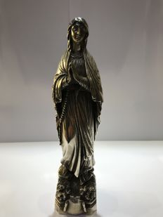 Our Lady of Lourdes in silver Spain - circa 1980