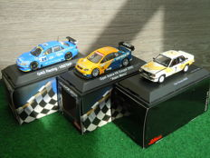 Schuco - Scale 1/43 - Lot with 3 x Race cars Opel Ascona B400, Opel Astra V8 Coupe, GAG Racing V8 Star