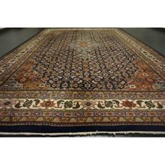 Luxurious, hand-knotted oriental carpet, Indo Bijar Herati, 350 x 240cm, made in India