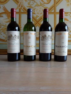 Mouton Cadet Baron Philippe De Rothschild 1990, 1988, 2 bottles & Chateau Suau Cote de Bordeaux France 1990, 2 bottles