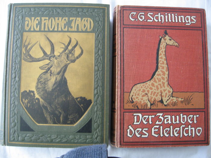Lot with two books about hunting - 1906 and 1922
