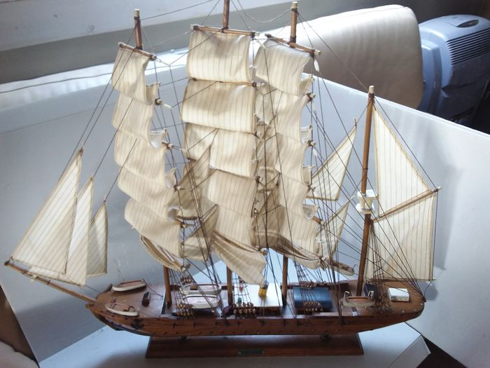 Large wooden sailing boat Kaiser Wilhelm - Germany - circa 1970.