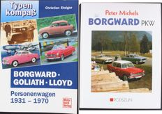 2 Borgward books - Borgward PKW und Borgward-Goliath-Lloyd Typen Kompass