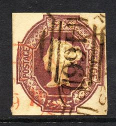 Great Britain Queen Victoria 1854 - 6d Mauve Embossed Issue, Stanley Gibbons 58