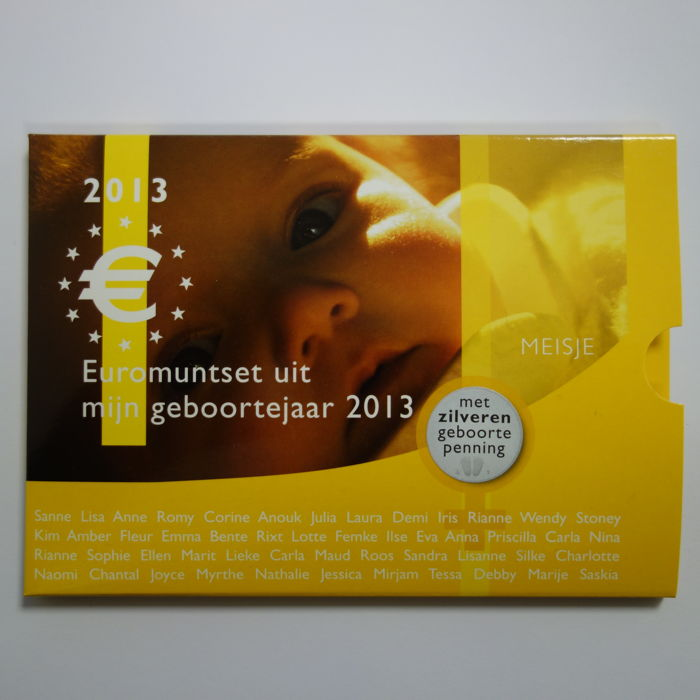 "The Netherlands – Year pack 2013 ""Baby pack girl silver"" with silver medal"