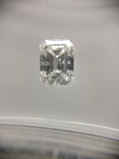 0.73 ct Emerald cut diamond D SI2