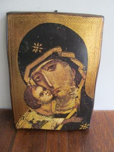 Russian icon on wood - Russia - early 20th century