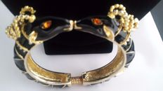 Kenneth J Lane ram clamper bracelet