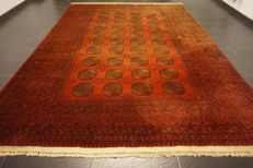 Wonderfully beautiful antique hand-knotted Art Deco Afghan oriental carpet, 260 x 360 cm, Afghan, made in Afghanistan
