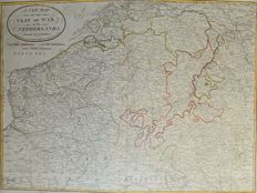 Belgium; Laurie / Whittle / Kitchin - A New Map of the Seat of War, in the Netherlands, (..) - 1794