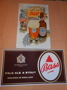 Colourful BASS advertising 1963 - BASS Pale Ale Stout advertising 1970