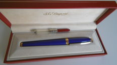 S.T. Dupont Paris fountain pen in blue Chinese lacquer & Gold