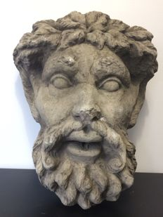Mask from a fountain representing John the Baptist - 20 century