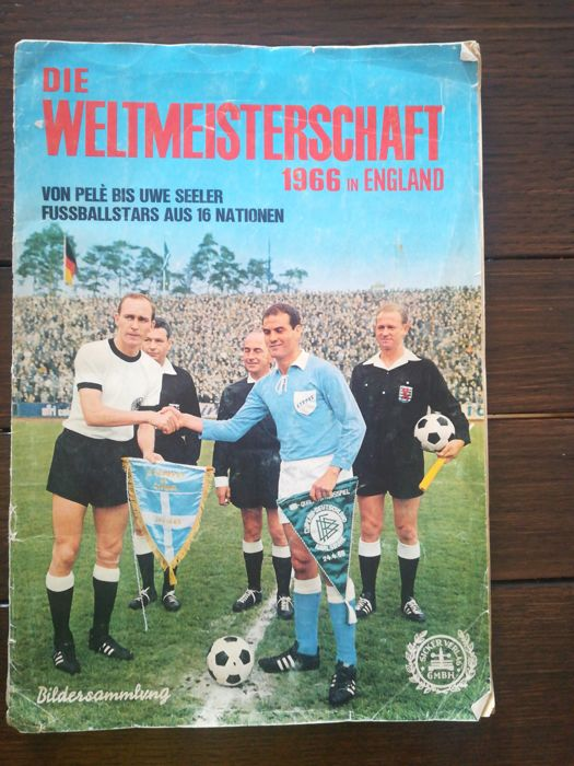 Variant Panini - Sicker Publisher - Worldcup 1966 in England - Complete album.