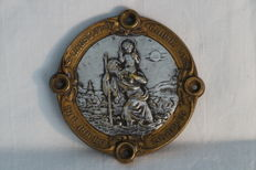 St Christopher - Art Nouveau French badge