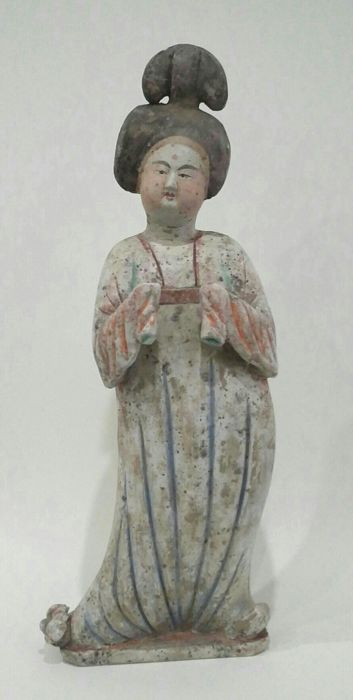Fat lady in terracotta with TL test certificate - 53 cm.
