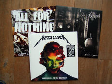 Top quality vinyl set with Metallica, Opeth and All For Nothing