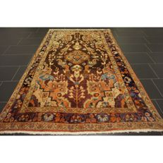 Sammlerstück Antiker Handgeknüpfter PERSER Orientteppich 225x140cm Fergahan Sarough um 1910 Collector Piece Carpet Old Rug Antique Tapis Tappeto Tapijt