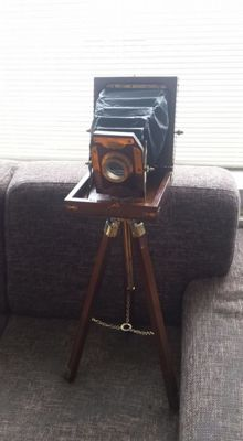 Decorative Camera, early 21st century, beautiful camera, an eye-catcher in your sitting room